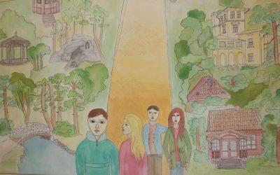 Kvietimas į Palangos Stasio Vainiūno meno mokyklos mokinių dailės darbų parodą