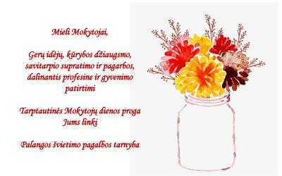 Su Tarptautine Mokytojų diena!